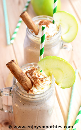 apple cinnamon vanilla smoothie