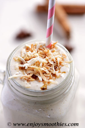 Banana Coconut Smoothie with Chai Seasoning