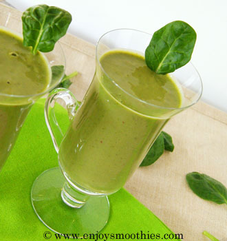 Green strawberry smoothie with bananas