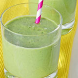 banana spinach smoothie with vanilla