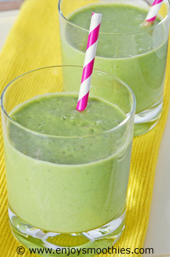 green vanilla smoothies