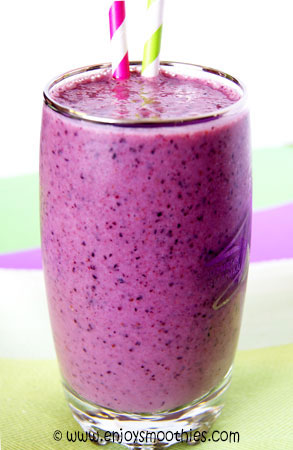 blueberry raspberry orange smoothies