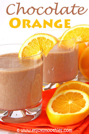 chocolate orange smoothies with cacao