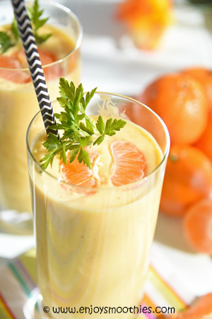 Coconut Mandarin Mango Smoothie