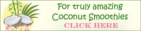 click through for coconut smoothies