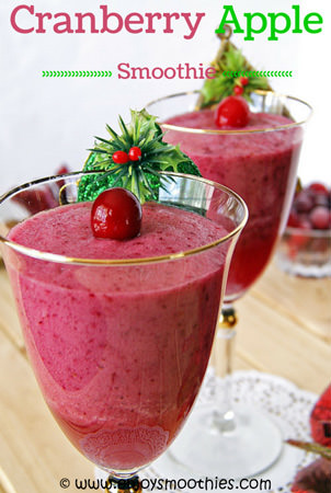 cranberry apple smoothie with pineapple