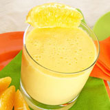 creamy mango orange smoothie