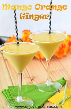 mango orange ginger smoothie