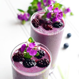 Green Tea Blackberry Smoothie