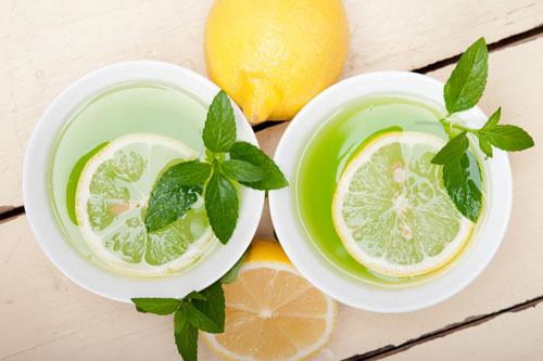 healthy detox lemon and lime drink