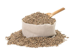 bag of hemp seeds