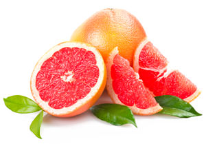 pink grapefruit segments
