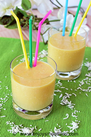 mango and white bean smoothie