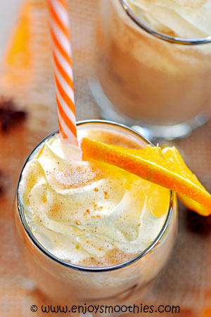 mocha orange smoothie