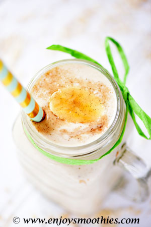 oatmeal peanut butter and honey smoothie