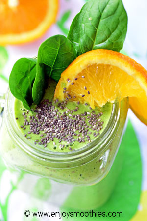 orange green smoothie