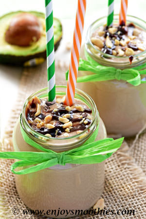 peanut butter chocolate oatmeal smoothie