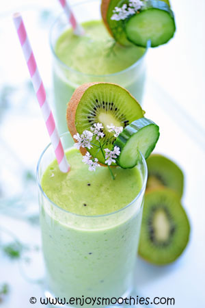 pineapple kiwi cucumber smoothie