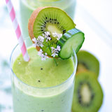 pineapple kiwi smoothie with cucumber