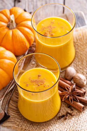 Pumpkin smoothie with orange juice