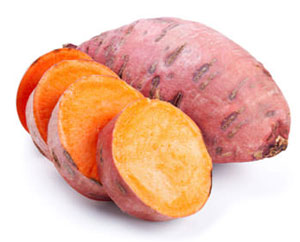 sweet potato whole and sliced