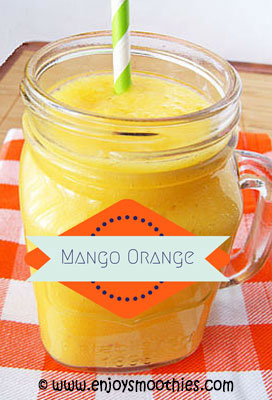tropical orange mango smoothie