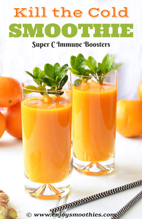 Orange immunity booster smoothie