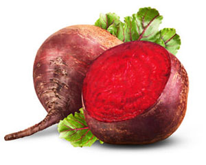 whole and sliced beetroot