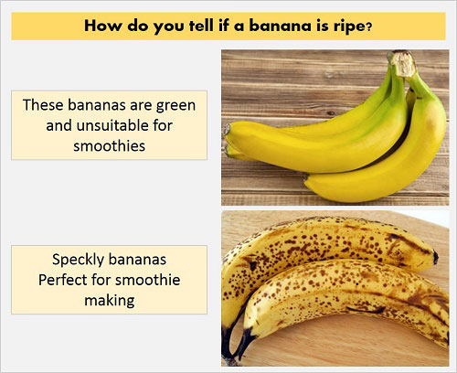 how to tell if a banana is ripe