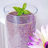 Blueberry green smoothies