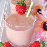 coconut strawberry smoothies