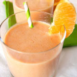 creamy orange strawberry smoothie