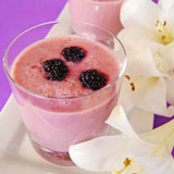 raspberry smoothies with melon