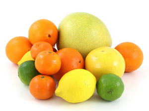 citrus fruits including oranges, lemons and limes